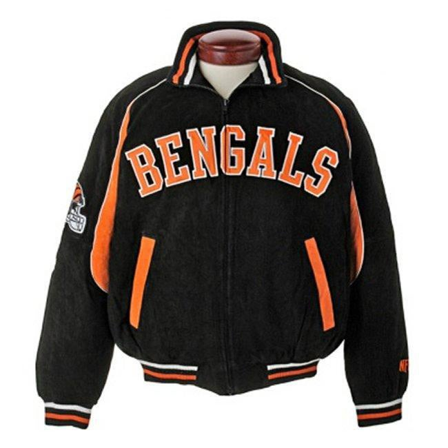 Shop NFL Cincinnati Bengals Full-zip Suede Varsity Jacket - Free Shipping  On Orders Over  45 - Overstock.com - 4238764 b589335dfa