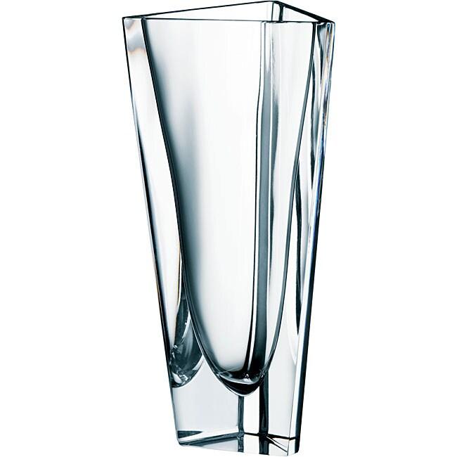 Orrefors Glass Triangle Vase