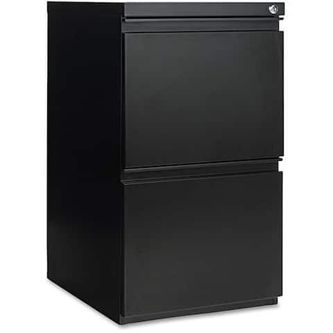 Alera Two-drawer Black Mobile Pedestal Vertical Filing Cabinet