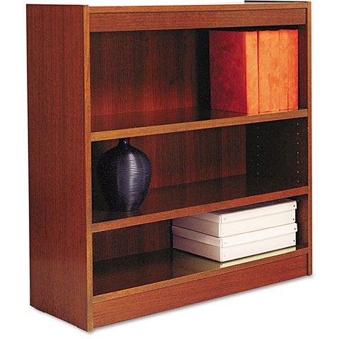 Alera Square Corner 3-shelf Bookcase