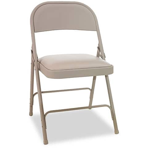 Alera Steel Padded Seat Folding Chair (Set of 4)