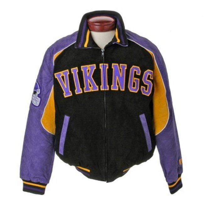 a70b297a NFL Minnesota Vikings Full-zip Suede XXL Varsity Jacket
