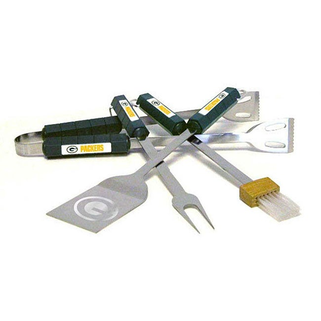 NFL Green Bay Packers Tailgaters 4-piece BBQ Grill Tool Set