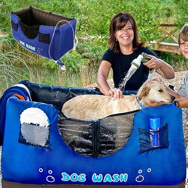 Hugs Pet Products Inflatable Blue 'Dog Wash'