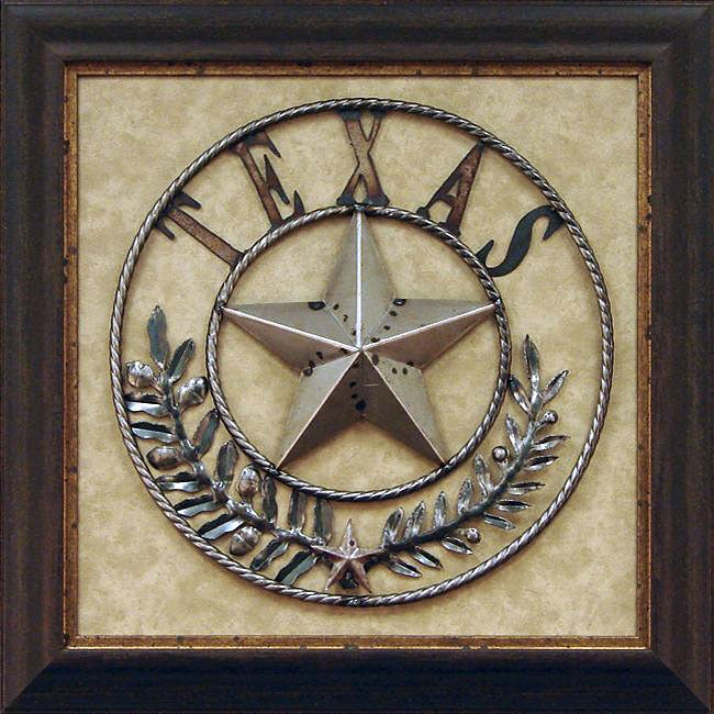 Texas Star Wall Art gallery direct antonio 'iron texas star' framed wall art - free