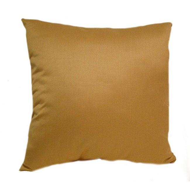 Silk 16-inch Yellow Throw Pillows (Set of 2)