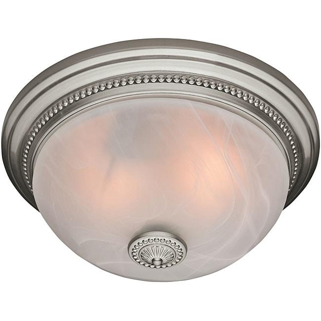 Hunter 81001 Ashbury Brushed Nickel Bath Fan And Light
