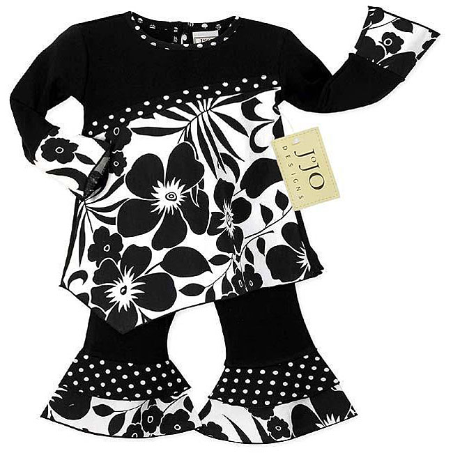 Sweet Jojo Designs Baby Girl's 2-piece Floral Polka Dot Outfit