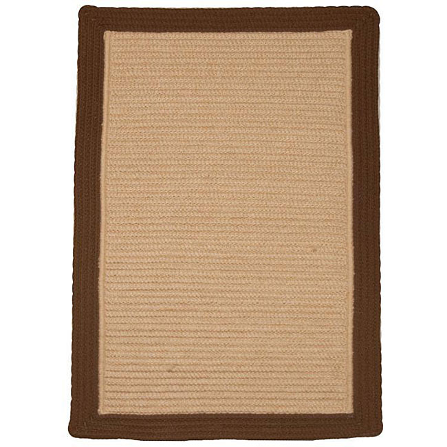 Breckenridge Indoor/ Outdoor Braided Brown/ Beige Rug (3'6 x 5'6)