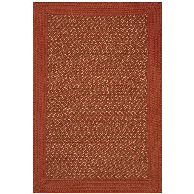 Donegal Indoor/ Outdoor Barn Red Braided Rug (2'6 x 4'2)