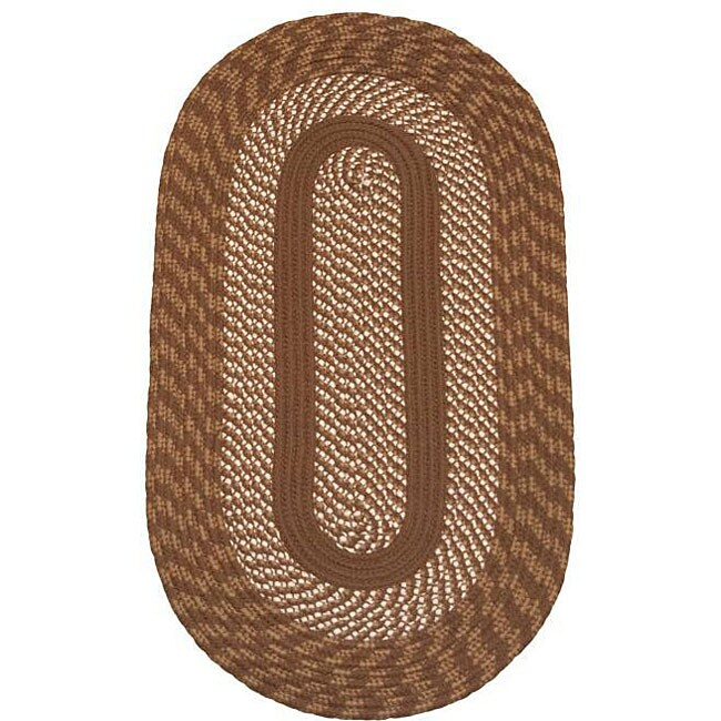 Cambridge Brown Indoor/ Outdoor Braided Rug (5' x 8')