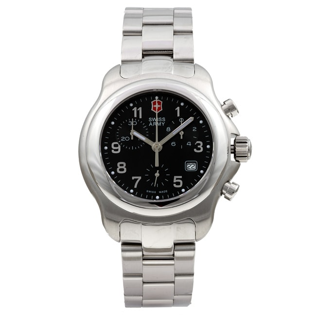 swiss army men 39 s officer 39 s 1884 chrono steel watch free
