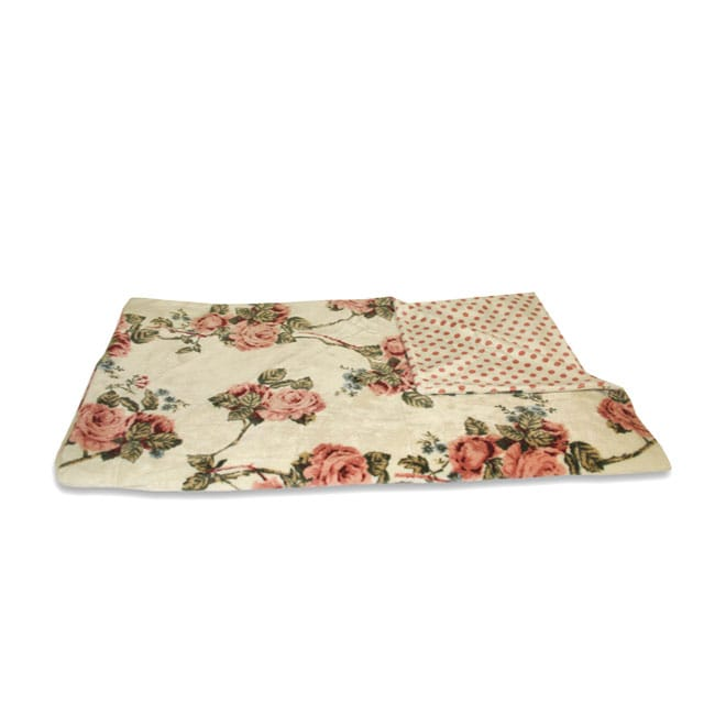 Vintage Floral Plush Throw Blanket (50 in. x 60 in.)