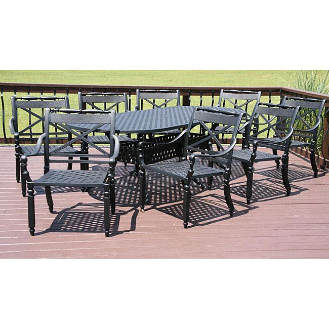 Outdoor Patio Furniture Savannah Ga: Savannah Outdoor Classics Albur 9-piece Patio Dining Set