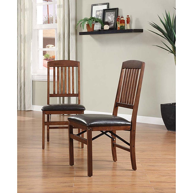 Shop Mission Style Folding Chairs Set Of 2 Free