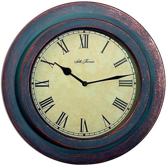 Seth Thomas 'Trevor' Indoor/ Outdoor Wall Clock