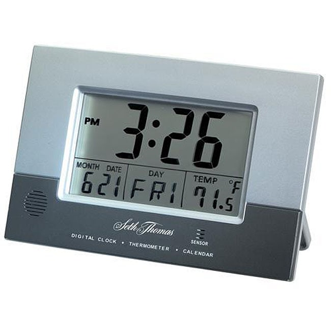 Seth Thomas Sade Digital Radio Controlled Desk Clock