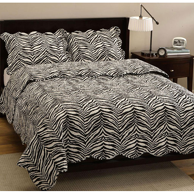 Zebra Quilt Set - Free Shipping Today - Overstock.com - 12241847