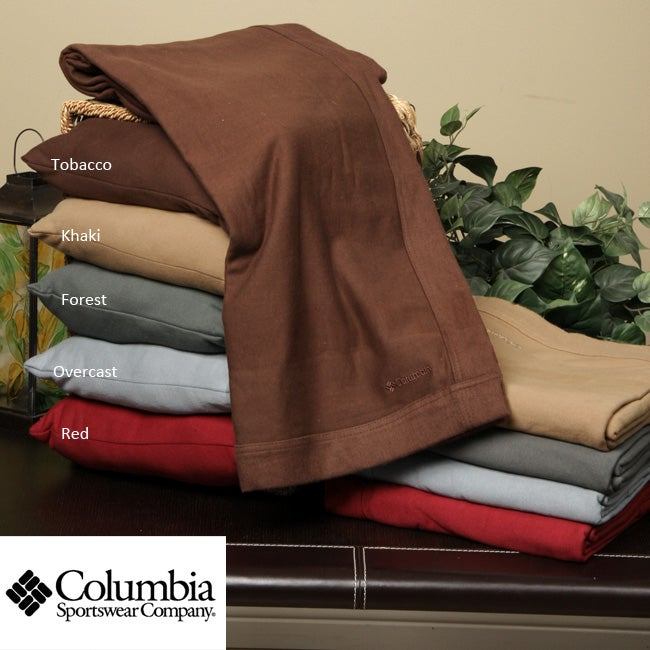 Columbia Throw Blanket and Pillow Bundle