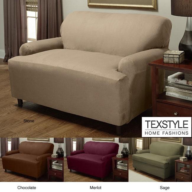 Shop Texstyle Stretch Microsuede 1 Piece T Cushion Sofa