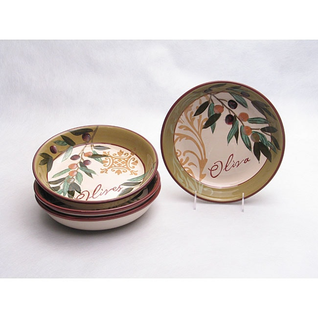 Certified International Oliva Pasta Bowls (Set of 4)