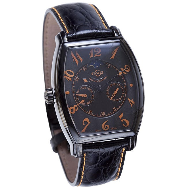 GV2 by Gevril Men's Limited Edition Black Strap Watch