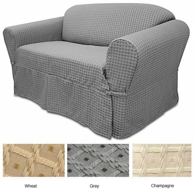 Basket Pattern Sofa Slipcover