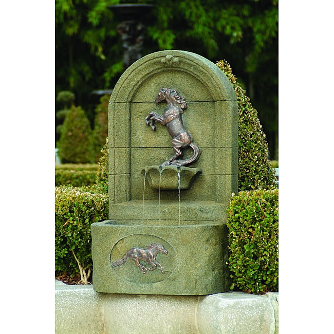 Rearing Horse Fountain Free Shipping Today Overstock