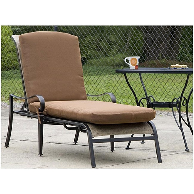 Chaise all weather copper bronze lounge chair cushion for All weather chaise