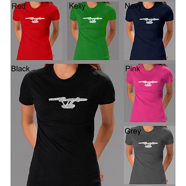 57d45e7ad54 Shop Los Angeles Pop Art Women s  Star Trek  Shirt - Free Shipping On Orders  Over  45 - Overstock - 4262954