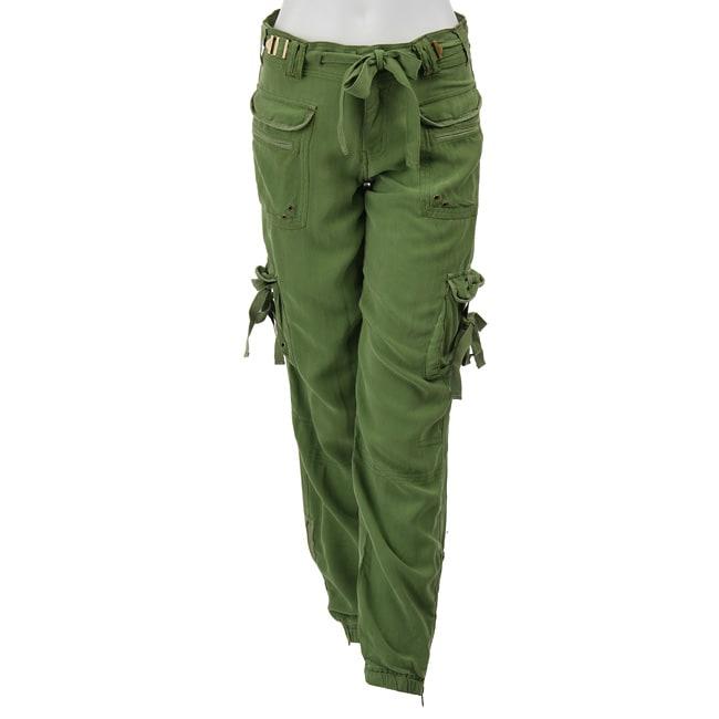 31796dc70de Shop Da Nang Women s Silk Cargo Pants - Free Shipping On Orders Over  45 -  Overstock - 4263084