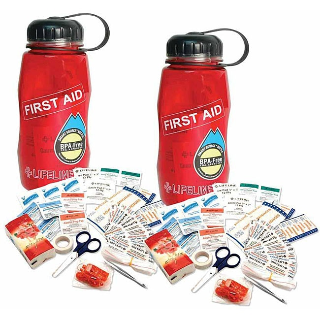 Lifeline Waterbottles BPA-free 'First Aid in a Bottle' Kits (Pack of 2)