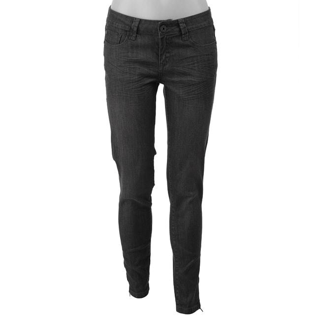 1edc28288c967 Shop Velvet Heart Women s Grey Skinny Jeans - Free Shipping On Orders Over   45 - Overstock - 4268414