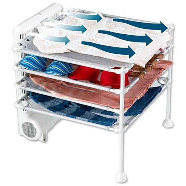 Hamilton Beach 4-shelf White Garment Drying Station