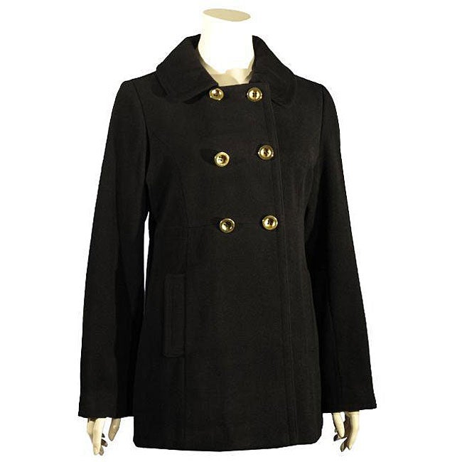 shop liz claiborne women s double breasted wool peacoat free rh overstock com Liz Claiborne Person Liz Claiborne Handbags