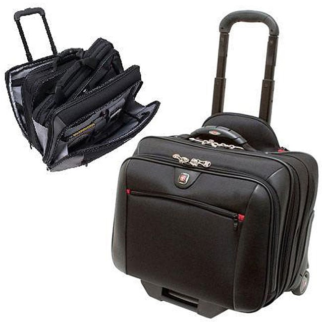 165b42218 Shop Wenger Swiss Gear Potomac Black Rolling Laptop Case - Free ...