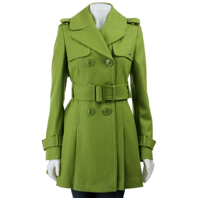 Miss Sixty Women's Double-breasted Wool Trench Coat