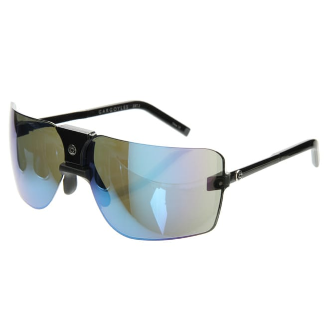 d1cbc77cfc Shop Gargoyle  Classic 85 s  Black  Caribbean Blue Men s Sunglasses -  Silver - Free Shipping Today - Overstock - 4271737