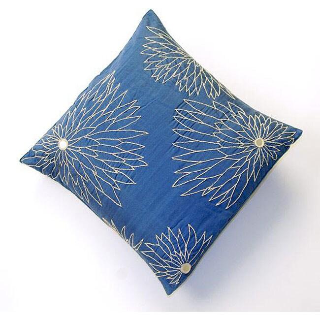 Yasmin Sapphire Silk Cushion Cover (India)