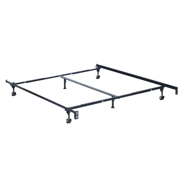 furniture of america adjustable queen king size metal bed frame