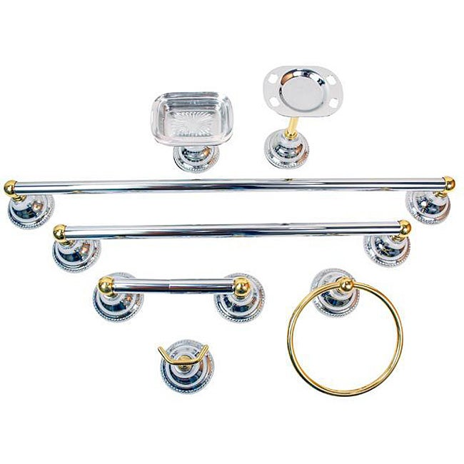moen barrington 7 piece chrome brass bath accessory kit