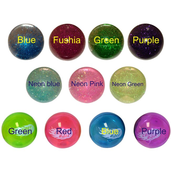 """4"""" Fun Glitter and Comet Bouncing Balls (Pack of 4)"""