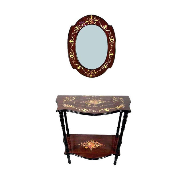 Sorrento Console Table and Wall Mirror Set