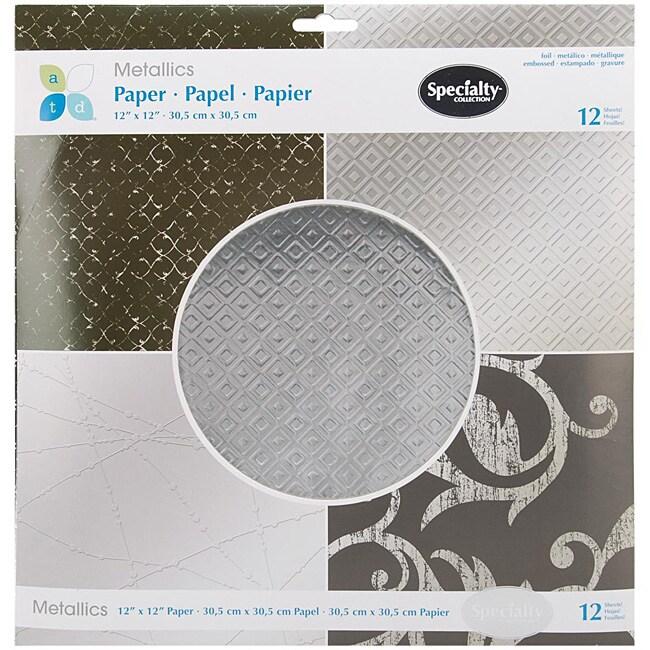 Metallics 12x12 Silver Paper Pad (12 Sheets)