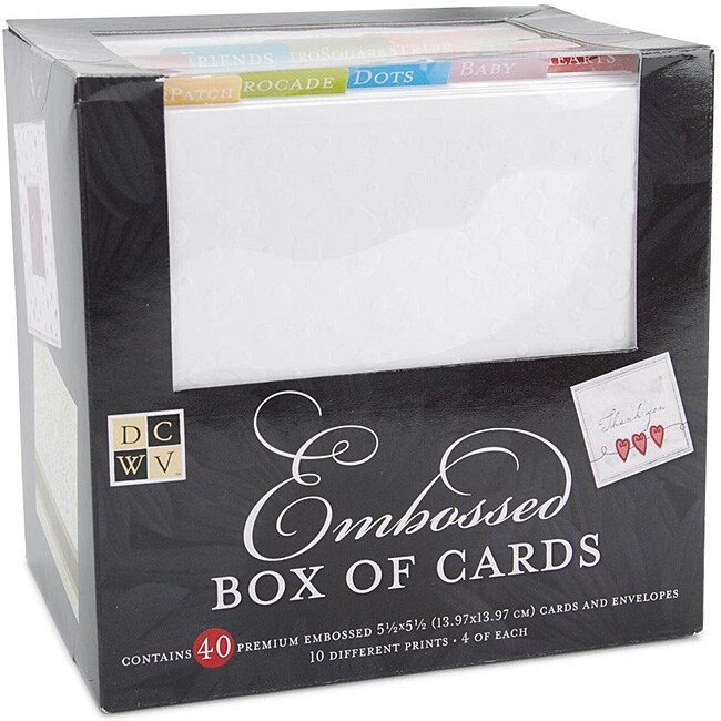 Embossed Square Cards