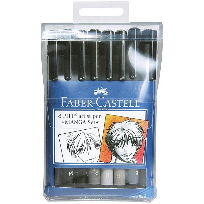 Faber-Castell Manga Pitt Artist Pens (Pack of 8)