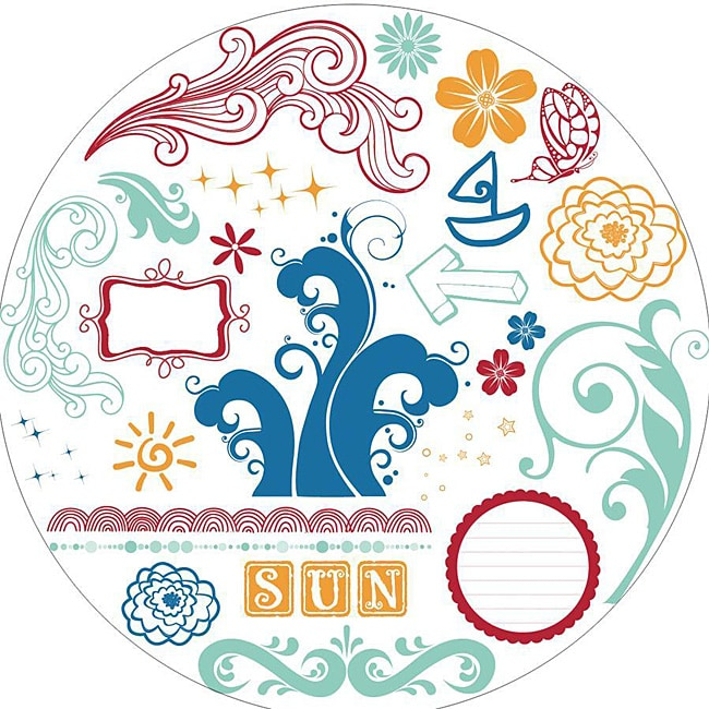 Fancy Pants Summer Soiree 10x10 Clear Acrylic Circle Stamps