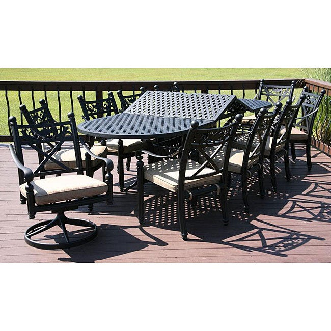 Madrid 11 piece Patio Furniture Set Free Shipping Today Overstock 1