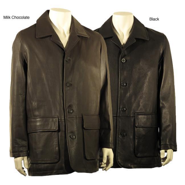 Joseph Abboud Men S Button Front Leather Jacket Free