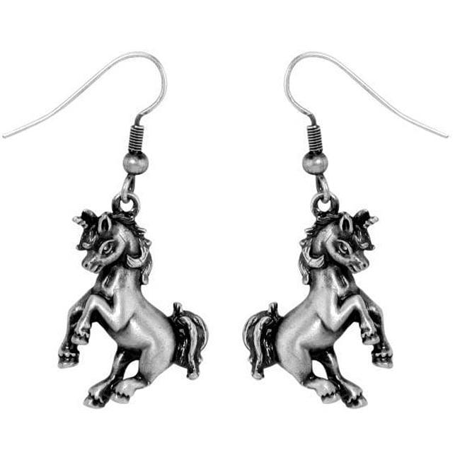 Pewter Unicorn Earrings